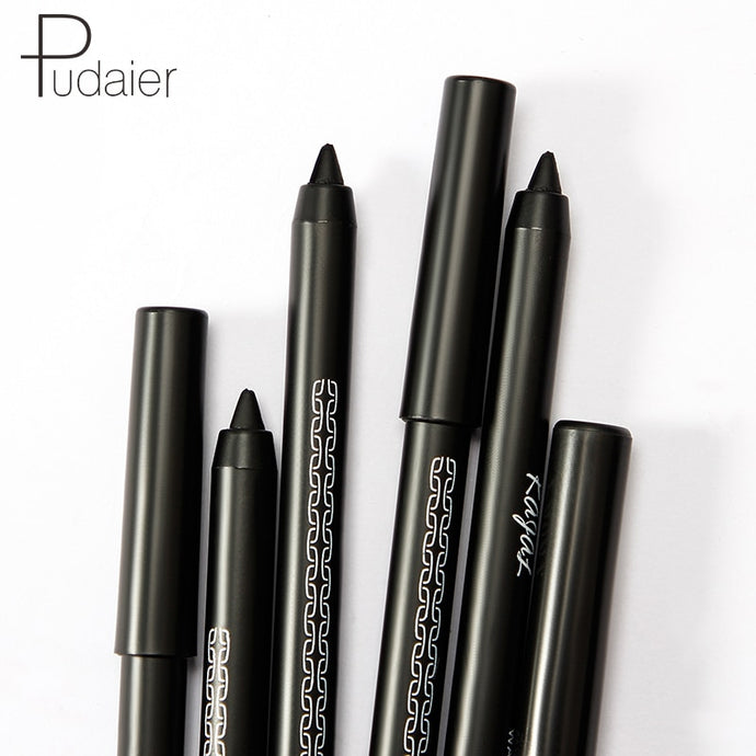 Professional Black Eyeliner Gel Pencil Waterproof Long Lasting Easy To Wear Solid Eye Liner Tattoo Pen Makeup Cosmetics TSLM2
