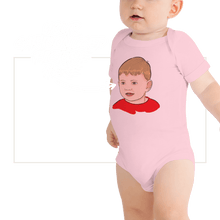 Load image into Gallery viewer, Bodysuit Personalised Baby One Piece Bodysuit Hand Drawn Custom Cartoon Design | Cartoon Yourself 𝔅 ♘ ℞ ScarletterDesign Pink / 3-6m