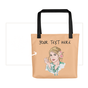 Bag Personalised Tote Bag Nude Cartoon Hand Drawn Custom Design  | Cartoon Yourself 𝔅 ♘ ℞ ScarletterDesign Black