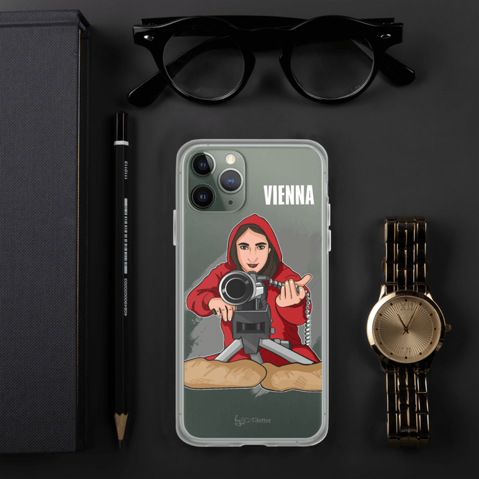 Phone Case iPhone Case Cartoon Yourself In LA CASA STYLE | Personalised Cartoon | Hand Drawn Custom Design 𝔅 ♘ ℞ ScarletterDesign iPhone 11 Pro