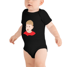 Load image into Gallery viewer, Bodysuit Personalised Baby One Piece Bodysuit Hand Drawn Custom Cartoon Design | Cartoon Yourself 𝔅 ♘ ℞ ScarletterDesign Black / 3-6m