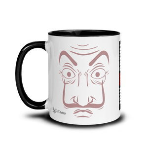 Mugs Mug with Color Inside Cartoon Yourself In LA CASA STYLE | Personalised Hand Drawn Custom Design 𝔅 ♘ ℞ ScarletterDesign