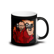 Load image into Gallery viewer, Mugs Matte Black Magic Mug Cartoon Yourself In LA CASA STYLE | Personalised Hand Drawn Custom Design 𝔅 ♘ ℞ ScarletterDesign