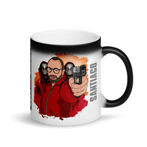 Matte/Glossy Black Magic Mug - Cartoon Yourself In LA CASA STYLE