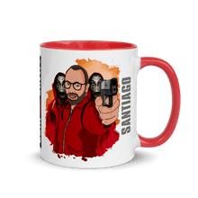 Load image into Gallery viewer, Mugs Mug with Color Inside Cartoon Yourself In LA CASA STYLE | Personalised Hand Drawn Custom Design 𝔅 ♘ ℞ ScarletterDesign