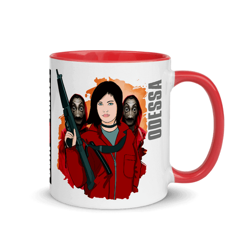 rifle masks mug cartoon yourself in la casa the papel style scarletter