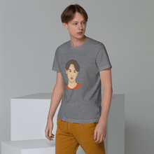 Load image into Gallery viewer, T-shirt Personalised Organic Cotton Unisex Eco-Friendly T-Shirt Hand Drawn Custom Design | Cartoon Yourself 𝔅 ♘ ℞ ScarletterDesign