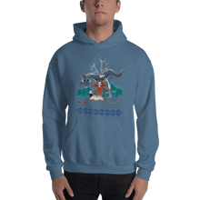 Load image into Gallery viewer, Hoodie Solomonarul - The Dragon Rider & Master of Storms | Unisex Hoodie 𝔅 ♘ ℞ ScarletterDesign Indigo Blue / S