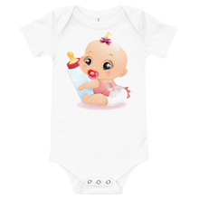 Load image into Gallery viewer, Bodysuit Personalised Baby One Piece Bodysuit Hand Drawn Custom Cartoon Design | Cartoon Yourself 𝔅 ♘ ℞ ScarletterDesign