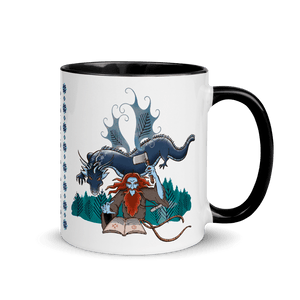 Mugs Solomonarul - The Dragon Rider & Master of Storms | Coffee Mug with Color Inside 𝔅 ♘ ℞ ScarletterDesign Black