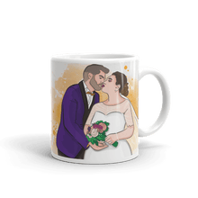 Load image into Gallery viewer, Mugs Personalized White Glossy Mug Hand Drawn Custom Cartoon Design | Cartoon Yourself 𝔅 ♘ ℞ ScarletterDesign 11oz
