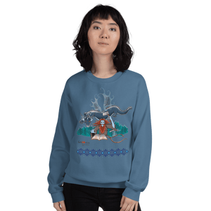 Sweatshirt Solomonarul - The Dragon Rider & Master of Storms | Unisex Sweatshirt 𝔅 ♘ ℞ ScarletterDesign Indigo Blue / S
