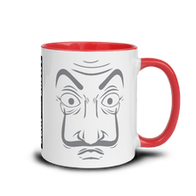 Load image into Gallery viewer, Mugs Mug with Color Inside | LA CASA - JOIN THE CREW! 𝔅 ♘ ℞ ScarletterDesign Red