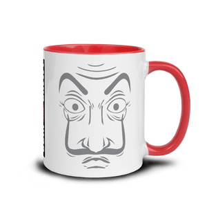 Mugs Mug with Color Inside | LA CASA - JOIN THE CREW! 𝔅 ♘ ℞ ScarletterDesign Red