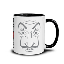 Load image into Gallery viewer, Mugs Mug with Color Inside | LA CASA - JOIN THE CREW! 𝔅 ♘ ℞ ScarletterDesign Black