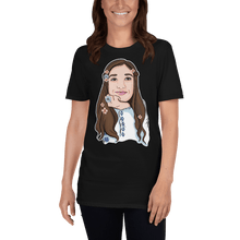 Load image into Gallery viewer, T-shirt Personalised Unisex T-Shirt Portraits Hand Drawn Custom Cartoon Design | Cartoon Yourself 𝔅 ♘ ℞ ScarletterDesign Black / S