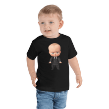 Load image into Gallery viewer, T-shirt Personalized Toddler Short Sleeve Tee Hand Drawn Custom Cartoon Design | Cartoon Yourself 𝔅 ♘ ℞ ScarletterDesign Black / 2T