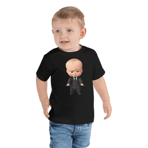 T-shirt Personalized Toddler Short Sleeve Tee Hand Drawn Custom Cartoon Design | Cartoon Yourself 𝔅 ♘ ℞ ScarletterDesign Black / 2T