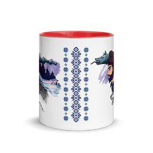 Load image into Gallery viewer, Mugs The Dacian Warrior & The Spirit of the White Wolf | Coffee Mug with Color Inside 𝔅 ♘ ℞ ScarletterDesign