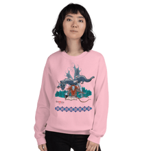 Load image into Gallery viewer, Sweatshirt Solomonarul - The Dragon Rider & Master of Storms | Unisex Sweatshirt 𝔅 ♘ ℞ ScarletterDesign Light Pink / S