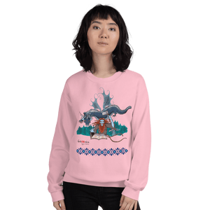 Sweatshirt Solomonarul - The Dragon Rider & Master of Storms | Unisex Sweatshirt 𝔅 ♘ ℞ ScarletterDesign Light Pink / S