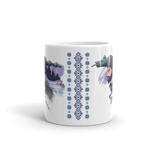 Load image into Gallery viewer, Mugs The Dacian Warrior & The Spirit of the White Wolf | Coffee Mug 𝔅 ♘ ℞ ScarletterDesign