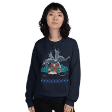 Load image into Gallery viewer, Sweatshirt Solomonarul - The Dragon Rider & Master of Storms | Unisex Sweatshirt 𝔅 ♘ ℞ ScarletterDesign Navy / S