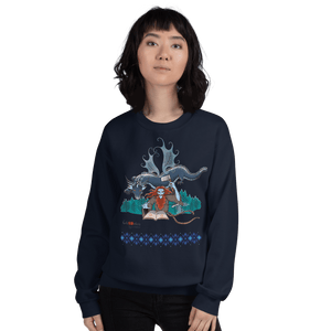 Sweatshirt Solomonarul - The Dragon Rider & Master of Storms | Unisex Sweatshirt 𝔅 ♘ ℞ ScarletterDesign Navy / S