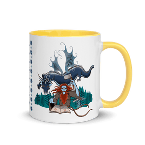 Mugs Solomonarul - The Dragon Rider & Master of Storms | Coffee Mug with Color Inside 𝔅 ♘ ℞ ScarletterDesign Yellow