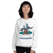 Load image into Gallery viewer, Sweatshirt Solomonarul - The Dragon Rider & Master of Storms | Unisex Sweatshirt 𝔅 ♘ ℞ ScarletterDesign White / S