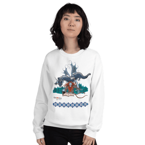 Sweatshirt Solomonarul - The Dragon Rider & Master of Storms | Unisex Sweatshirt 𝔅 ♘ ℞ ScarletterDesign White / S