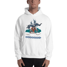 Load image into Gallery viewer, Hoodie Solomonarul - The Dragon Rider & Master of Storms | Unisex Hoodie 𝔅 ♘ ℞ ScarletterDesign White / S