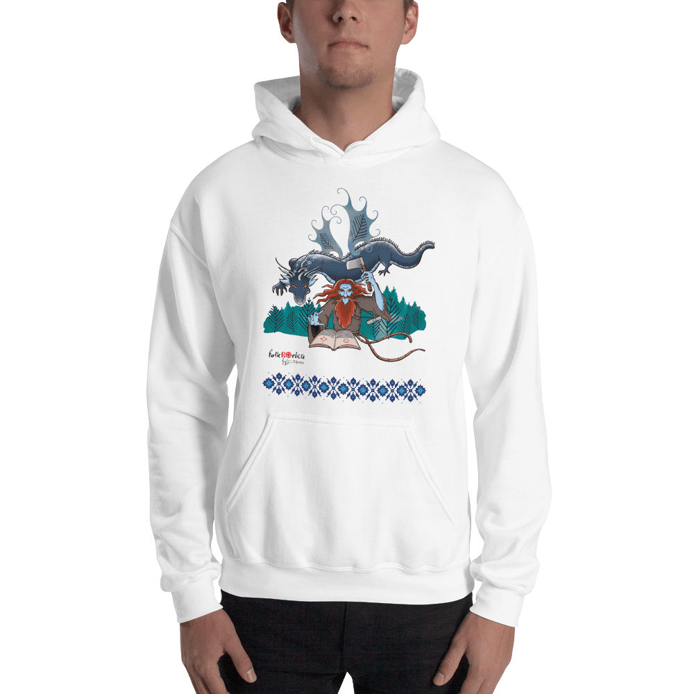 Hoodie Solomonarul - The Dragon Rider & Master of Storms | Unisex Hoodie 𝔅 ♘ ℞ ScarletterDesign White / S
