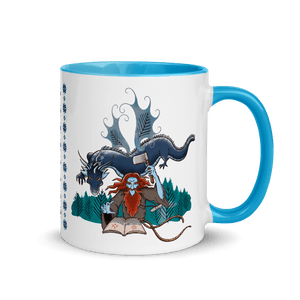 Mugs Solomonarul - The Dragon Rider & Master of Storms | Coffee Mug with Color Inside 𝔅 ♘ ℞ ScarletterDesign Blue