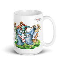 Load image into Gallery viewer, Mugs Sanzienele - The Joyful Spirits of the Nature | Coffee Mug 15oz 𝔅 ♘ ℞ ScarletterDesign