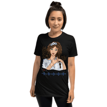Load image into Gallery viewer, T-shirt Ileana Cosanzeana - The Charming Princess | Short-Sleeve T-Shirt 𝔅 ♘ ℞ ScarletterDesign Black / S
