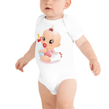Load image into Gallery viewer, Bodysuit Personalised Baby One Piece Bodysuit Hand Drawn Custom Cartoon Design | Cartoon Yourself 𝔅 ♘ ℞ ScarletterDesign White / 3-6m