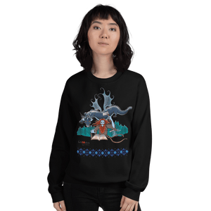 Sweatshirt Solomonarul - The Dragon Rider & Master of Storms | Unisex Sweatshirt 𝔅 ♘ ℞ ScarletterDesign Black / S