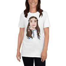 Load image into Gallery viewer, T-shirt Personalised Unisex T-Shirt Portraits Hand Drawn Custom Cartoon Design | Cartoon Yourself 𝔅 ♘ ℞ ScarletterDesign White / 2XL