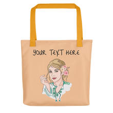 Load image into Gallery viewer, Bag Personalised Tote Bag Nude Cartoon Hand Drawn Custom Design  | Cartoon Yourself 𝔅 ♘ ℞ ScarletterDesign Yellow