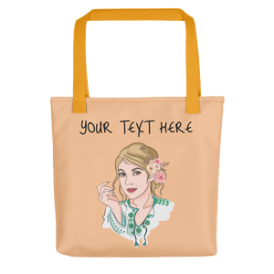 Bag Personalised Tote Bag Nude Cartoon Hand Drawn Custom Design  | Cartoon Yourself 𝔅 ♘ ℞ ScarletterDesign Yellow