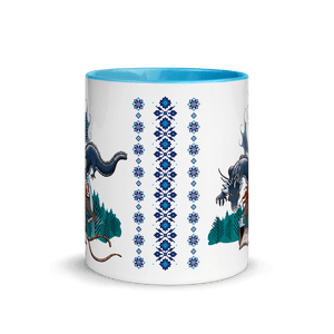 Mugs Solomonarul - The Dragon Rider & Master of Storms | Coffee Mug with Color Inside 𝔅 ♘ ℞ ScarletterDesign