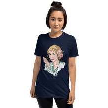 Load image into Gallery viewer, T-shirt Personalised Unisex T-Shirt Portraits Hand Drawn Custom Cartoon Design | Cartoon Yourself 𝔅 ♘ ℞ ScarletterDesign Navy / S