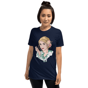 T-shirt Personalised Unisex T-Shirt Portraits Hand Drawn Custom Cartoon Design | Cartoon Yourself 𝔅 ♘ ℞ ScarletterDesign Navy / S