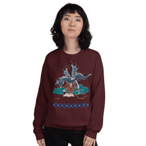 Sweatshirt Solomonarul - The Dragon Rider & Master of Storms | Unisex Sweatshirt 𝔅 ♘ ℞ ScarletterDesign Maroon / S