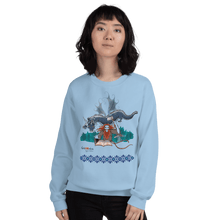 Load image into Gallery viewer, Sweatshirt Solomonarul - The Dragon Rider & Master of Storms | Unisex Sweatshirt 𝔅 ♘ ℞ ScarletterDesign Light Blue / S