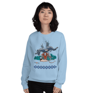 Sweatshirt Solomonarul - The Dragon Rider & Master of Storms | Unisex Sweatshirt 𝔅 ♘ ℞ ScarletterDesign Light Blue / S