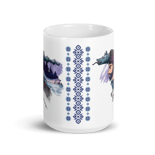 Load image into Gallery viewer, Mugs The Dacian Warrior & The Spirit of the White Wolf | Coffee Mug 15oz 𝔅 ♘ ℞ ScarletterDesign