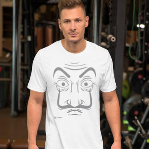 Unisex T-Shirt La Casa De Papel Mask | Hand Drawn Design