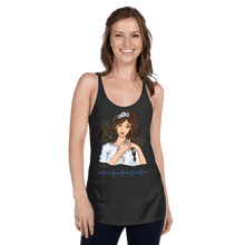 Load image into Gallery viewer, Tank Top Ileana Cosanzeana - The Charming Princess | Women's Racerback Tank Top B ♘ ℞ ScarletterDesign Vintage Black / XS